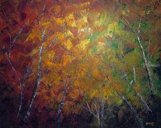 Forest Floor, Paintings, Abstract, Landscape, Acrylic, By Judith Cahill