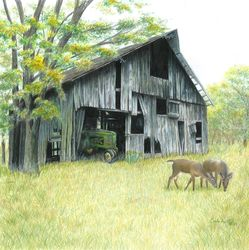 Forgotten, Drawings / Sketch,Paintings, Photorealism,Realism, Architecture,Nature,Wildlife, Painting,Pencil, By Carla Kurt