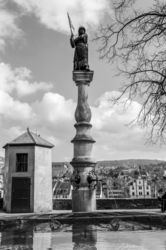 Fountain in Lindenhof, Architecture,Photography,Printmaking, Fine Art,Realism,Symbolism, Architecture,Historical,Performance Art, Photography: Metal Print,Photography: Photographic Print,Photography: Premium Print,Photography: Stretched Canvas Print, By Ira Silence