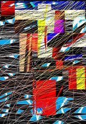 fragments of sky, Digital Art / Computer Art, Abstract,Expressionism, Conceptual,The Unconscious, Digital, By Nebojsa Strbac