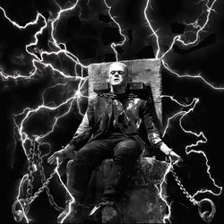 Frankenstein Electric, Digital Art / Computer Art, Commercial Design,Romanticism,Shock, Fantasy,Figurative,Mythical, Digital, By Matthew Lacey