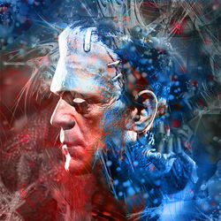 Frankenstein Monster Portrait, Digital Art / Computer Art, Commercial Design,Futurism,Modernism,Primitive, Avant-Garde,Fantasy,Figurative,Mythical, Digital, By Matthew Lacey