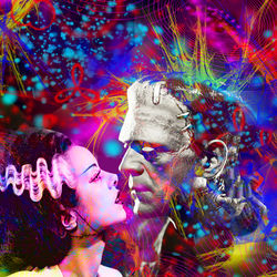 Frankenstein`s Bride, Digital Art / Computer Art, Commercial Design,Romanticism,Sensationalism,Shock, Fantasy, Digital, By Matthew Lacey