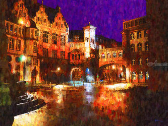 Frankfurt-am-main-germany, Paintings, Impressionism, Window on the World, Oil,Painting, By Angelo