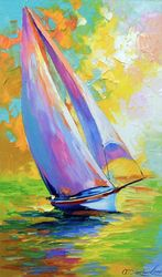 Fresh wind, Paintings, Impressionism, Botanical,Landscape,Nature,Seascape, Canvas,Oil,Painting, By Olha   Darchuk