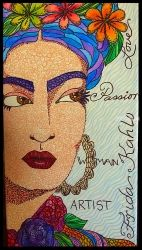 Frida 2, Illustration, Pop Art, Multicultural / Ethnic, Ink, By Rebecca Sakovitch