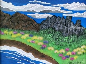 Frolic Bay, Paintings, Expressionism, Land Art, Mixed, By Robert Crawford