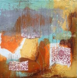 Fruition, Decorative Arts, Abstract, Composition, Acrylic, By Petra Lea
