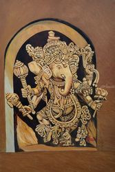 Ganesha Vighan Vinashak, Paintings, Expressionism, Religious, Canvas, By Ajay Harit