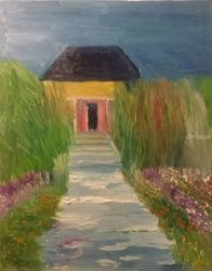 Garden House, Paintings, Impressionism, Botanical, Oil, By MD Meiser