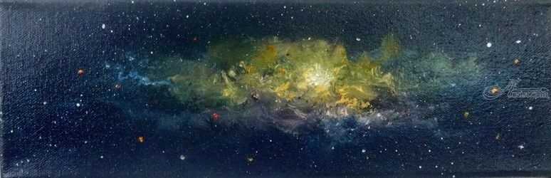 Genesis 3, Paintings, Expressionism, Celestial / Space, Oil, By fred wilson