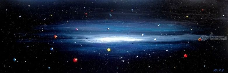 Genesis 4, Paintings, Existentialism, Celestial / Space, Oil, By fred wilson