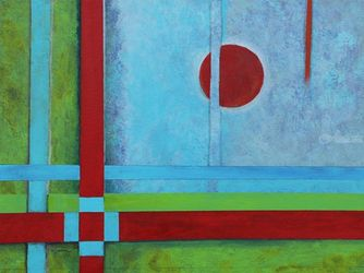 Geometric 38, Paintings, Abstract, Mathematics, Acrylic, By Alicia Maury