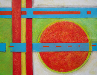 Geometry 95, Paintings, Abstract, Mathematics, Acrylic, By Alicia Maury
