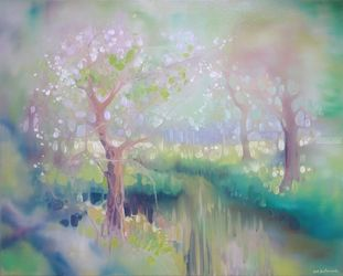 Glade, Paintings, Expressionism,Impressionism, Botanical,Inspirational,Landscape,Wildlife, Oil, By Gill Bustamante