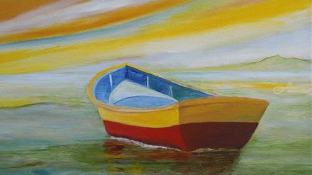 Golden Day, Paintings, Impressionism, Seascape, Canvas, By Alicia Maury