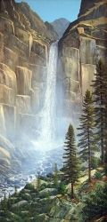 Great Falls, Paintings, Realism, Landscape, Oil,Painting, By Frank Wilson