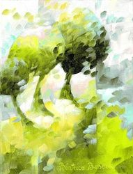 Green meadow 025, Paintings, Abstract,Fauvism,Fine Art, Figurative,Floral,Landscape,Nature, Canvas,Oil, By Beatrice BEDEUR