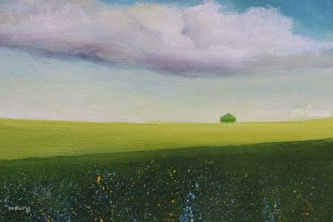 Green Valley, Paintings, Impressionism, Landscape, Canvas, By Alicia Maury
