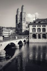 Grossmünster Zurich, Architecture,Decorative Arts,Digital Art / Computer Art,Paper Art,Photography,Poster,Printmaking, Fine Art,Performance Art,Photorealism,Realism, Architecture,Cityscape,Conceptual,Memorial,Religious, Photography: Metal Print,Photography: Photographic Print,Photography: Premium Print,Photography: Stretched Canvas Print, By Ira Silence