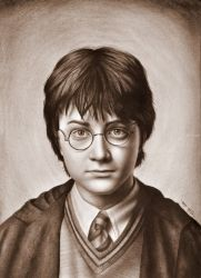 Harry Potter Portrait, Drawings / Sketch, Realism, Figurative, Oil, By Stefan Pabst