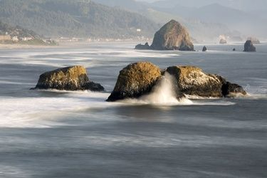 Hay Stacks, Photography, Photorealism, Seascape, Photography: Premium Print, By Mike DeCesare