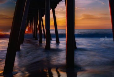 Hermosa Sunset, Photography, Photorealism, Seascape, Photography: Premium Print, By Mike DeCesare