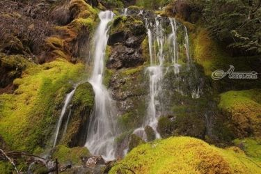 High Country Waterfall, Photography, Photorealism, Landscape, Photography: Premium Print, By Mike DeCesare