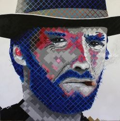 High Plains Drifter. Portrait of Clint Eastwood