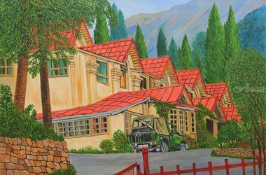 Holiday in Nainital I, Paintings, Realism, Landscape, Canvas, By Ajay Harit