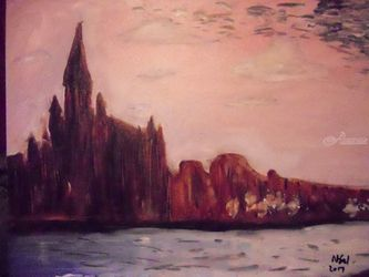 Holy Cross, Paintings, Impressionism, Architecture, Oil, By Nigel Goodwin