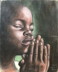 I Believe in the Power of<br>Prayer!, Pastel, Fine Art, Conceptual, Pastel, By James Barnes