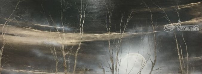 In a Deep and Dark December, Paintings, Impressionism, Landscape, Oil, By Stephen Keller