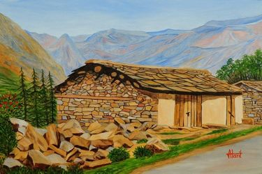 In Consonance with Nature, Paintings, Expressionism,Photorealism,Realism, Landscape, Canvas, By Ajay Harit