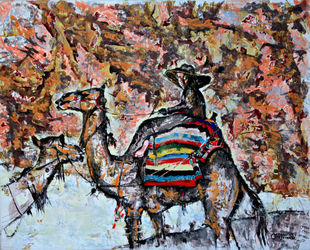 In the gorge of Petra, Paintings, Expressionism, Landscape, Acrylic,Canvas, By Victor Ovsyannikov