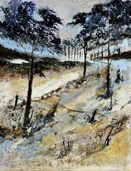 In the wood 59, Paintings, Expressionism, Nature, Canvas, By Pol Ledent