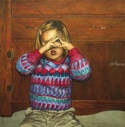 Insight into tolerance, Paintings, Realism, Children, Watercolor, By James Cassel