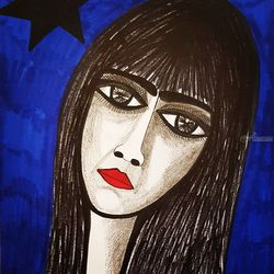 Israeli Artist exhibit<br>colorful drawings, Drawings / Sketch, Expressionism, Figurative, Pencil, By Mirit Ben-Nun