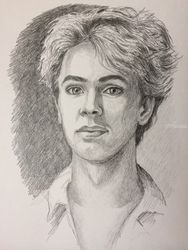 Ivo Pogorelich, Drawings / Sketch, Fine Art, Portrait, Pencil, By Victoria Trok