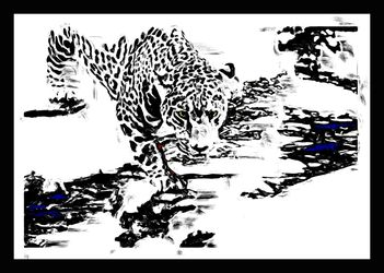 Jaguar 248, Digital Art / Computer Art, Abstract, Animals, Digital, By Joshua Bindseil