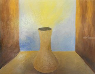 jar of light, Paintings, Existentialism,Expressionism,Fine Art,Hallucinogens,Realism,Surrealism,Symbolism, Conceptual,Figurative,Spiritual, Canvas,Oil, By Gabriele Gerini