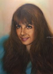 Jeanette in teal, Drawings / Sketch,Paintings, Fine Art,Realism, Figurative,People,Portrait, Mixed,Oil,Painting,Pencil, By James Cassel