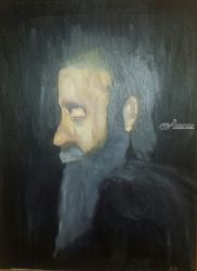 Job's Repentance, Paintings, Fine Art, Portrait, Oil, By MD Meiser