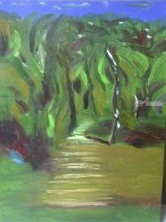 Jungle path, Paintings, Impressionism, Landscape, Oil, By MD Meiser