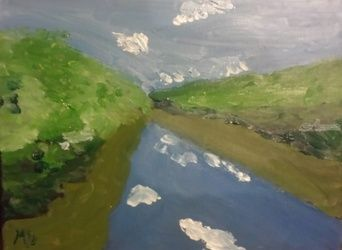 Juniata River 3, Paintings, Impressionism, Landscape, Oil, By MD Meiser