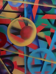 Kaleidoscope 2, Paintings, Abstract, Conceptual,Decorative,Fantasy, Oil,Painting, By William Birdwell