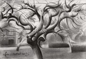 Kethel – 13-07-19, Drawings / Sketch, Cubism,Fine Art,Impressionism, Composition,Inspirational,Landscape, Pencil, By Corne Akkers