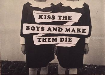 Kiss the Boys and Make Them<br>Die, Collage, Surrealism, People, Mixed, By Aryn Pond