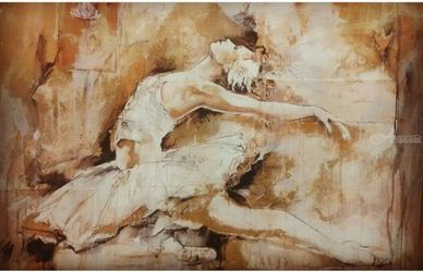 Lady ballet dancer, Drawings / Sketch,Paintings, Realism, Dance, Canvas,Mixed, By Alireza Behdani