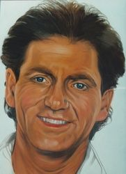 Larry Gatlin, Murals,Paintings, Fine Art,Realism, Figurative,People,Portrait, Oil,Painting, By James Cassel